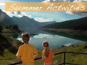summer activities Jasper